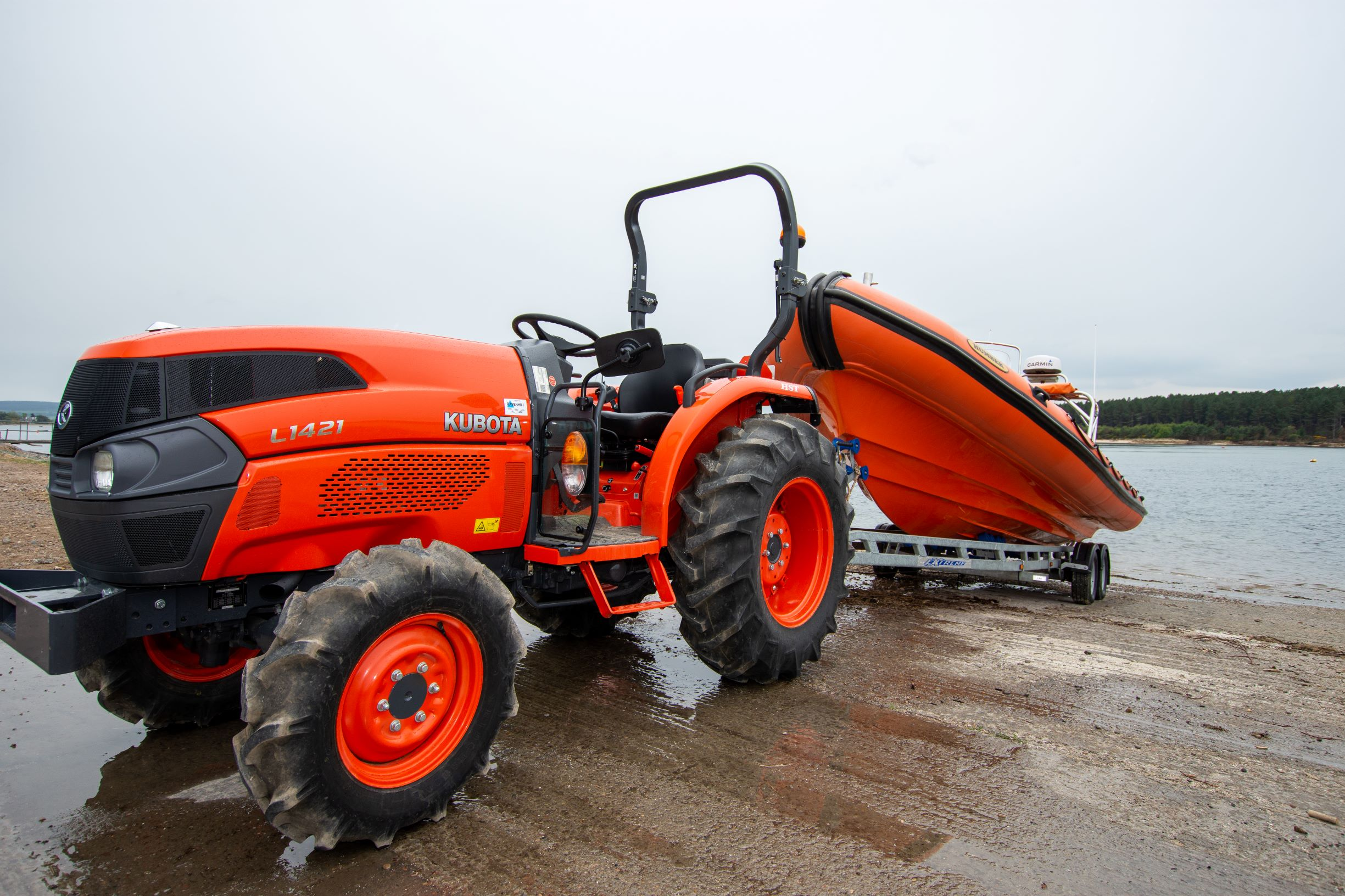 Miro's new tractor will help the group launch the lifeboat in winter.