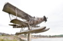 The wartime biplane that provided the inspiration for Stonehaven's latest sculpture.