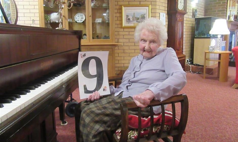 98-year-old Rebecca Parker, originally from the Isle of Skye.