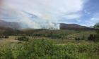 Hills above the south Skye village of Kyleakin were ablaze