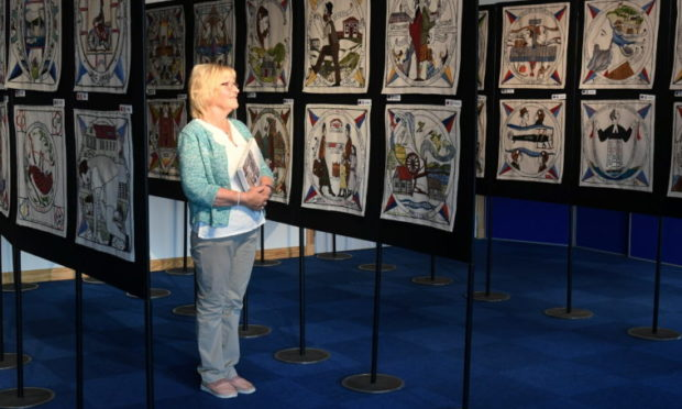 The world famous Diaspora Tapestry  at Garioch Heritage Centre. Picture by Chris Sumner