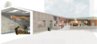 An artist's impression of the redeveloped workshop