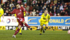 Barry Nicholson keeps his cool from the spot to fire Aberdeen in front against Kilmarnock.