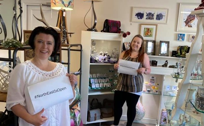Kilts Wi Hae in Newmachar is one of thousands of Scottish shops preparing to open today
