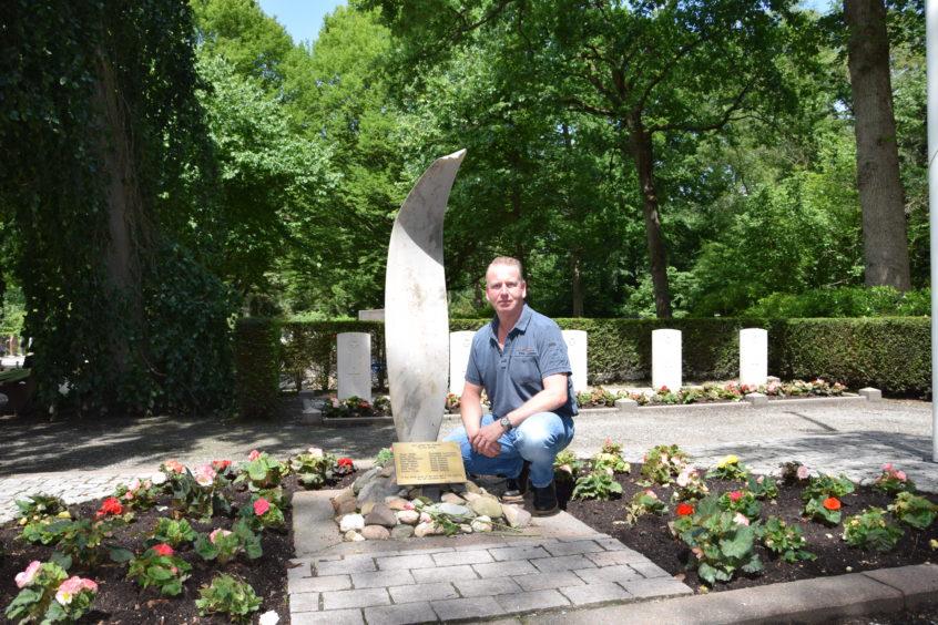 Mr Scheer at the memorial.
