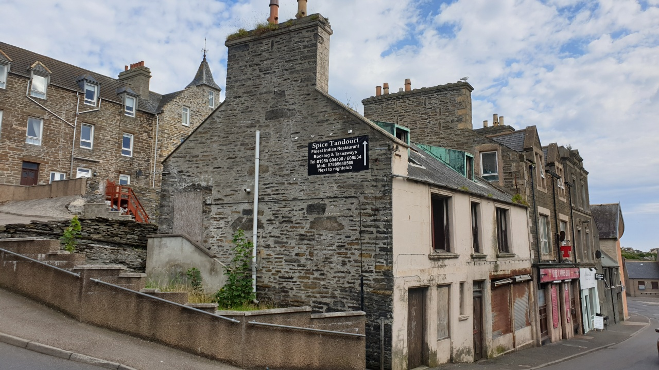 126 High Street, Wick will be one of two buildings demolished as part of the town's regeneration project.