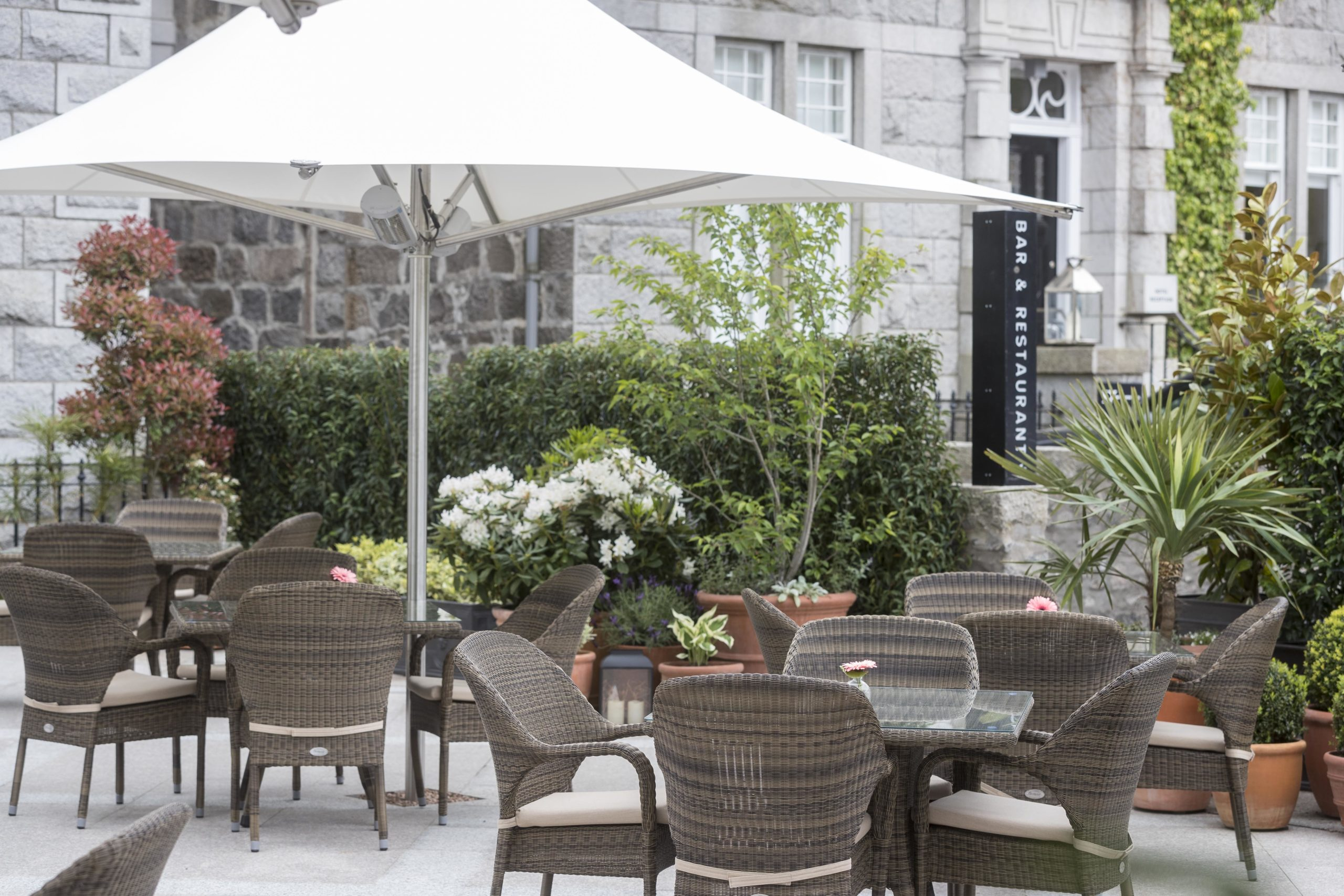 The outdoor area at The Chester Hotel