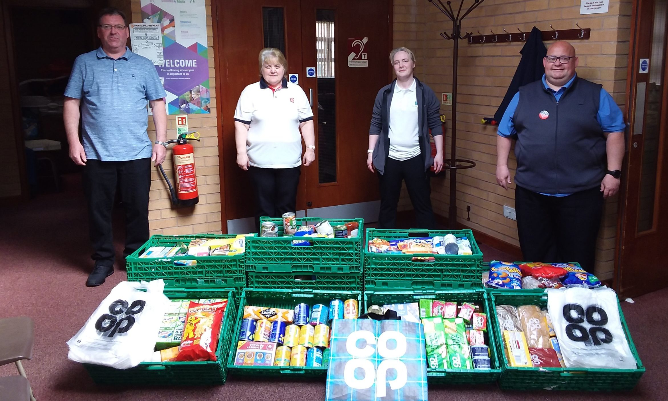 Fraserburgh Co-op donated £400 worth of food to the Fraserburgh Salvation Army food bank.
