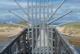 The crossing to Lossiemouth's East Beach has been closed.