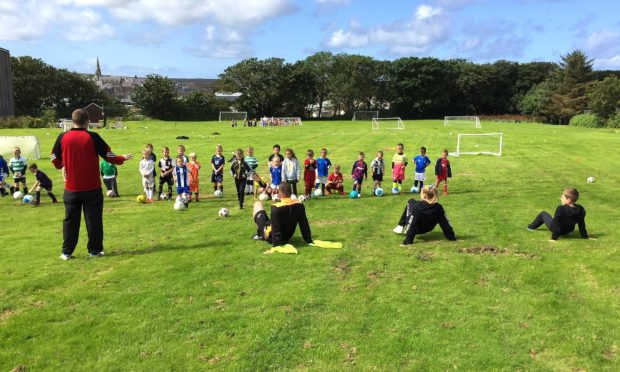 25 young footballers are to benefit from the Keep Scotland Active initiative.