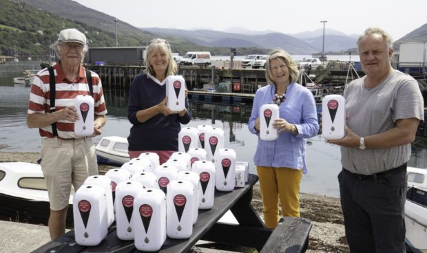 Welcome Ullapool have distributed 75 automatic hand sanitiser devices across the community.