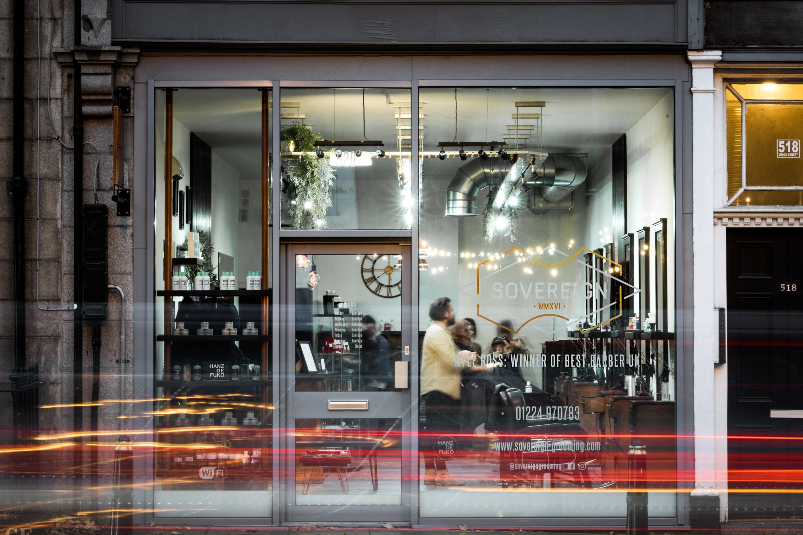 Sovereign Grooming on Aberdeen's Union Street.