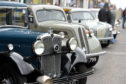 Classic cars lined up for 2016's show in Buckie.