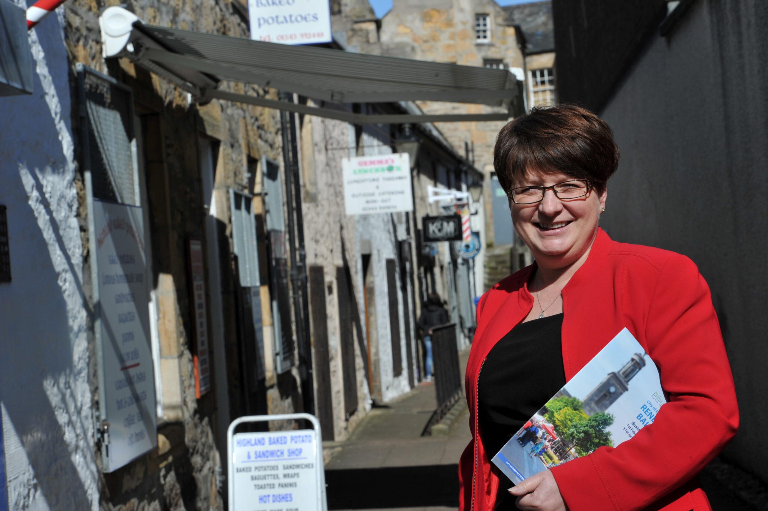 Gill Neill, outgoing chief executive of Elgin Bid, wishes new boss Gemma Cruickshank all the best.