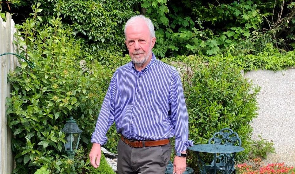 John Bevan will walk the million steps in his garden.