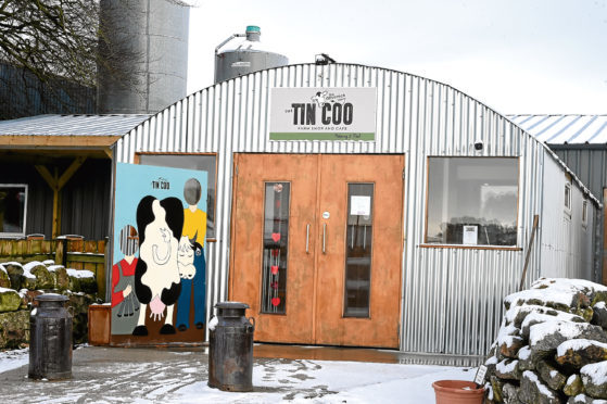 The Tin Coo shop and cafe at Devenick Dairy, Bishopston Farm, Banchory Devenick, Aberdeen.  Picture by Jim Irvine  6-2-18