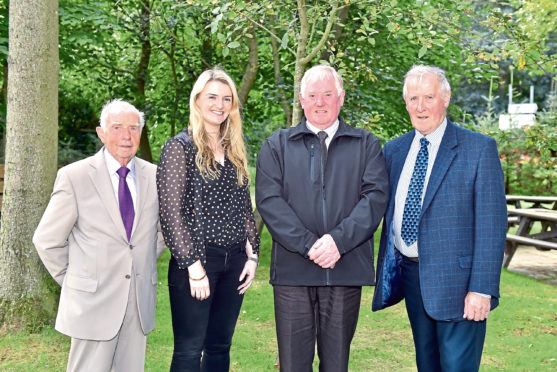 Last year's winners Malcolm Alan, Jenna Ross, Gordon Christie and George Mearns.