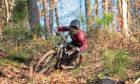 Mountain biking at Nevis Range.