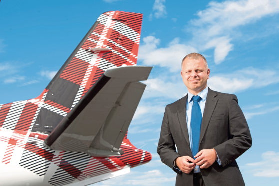 Jonathan Hinkles, Chief Executive of Loganair