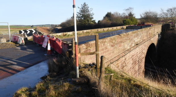 Locator of Abbeyton Bridge just north of Fourdoun that is being demolished over Christmas. Picture by Chris Sumner Taken 24/12/18