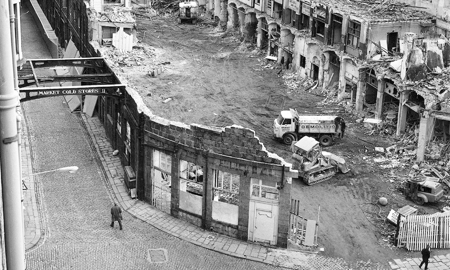 This picture was taken shortly after the bulldozers moved in to take apart the old Aberdeen Market in 1971.