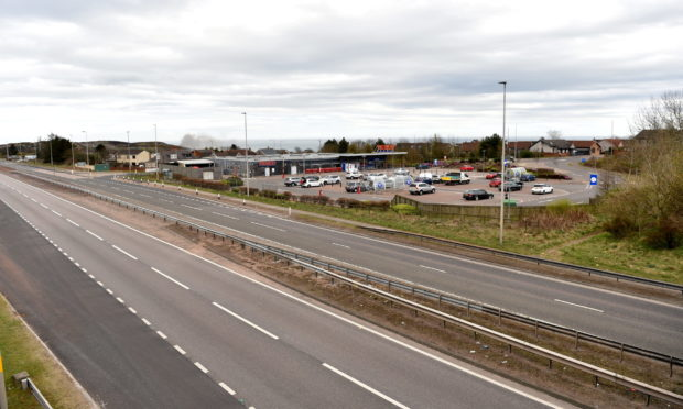 The A92 at Newtonhill