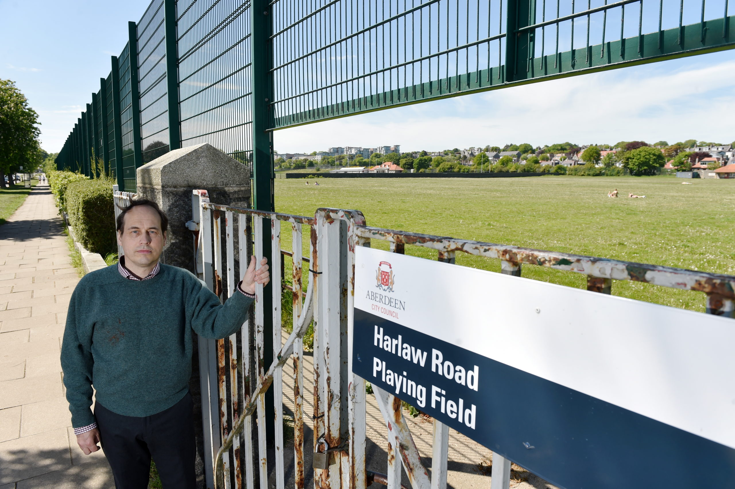 Councillor Martin Greig at Harlaw Playing Fields
