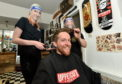 L-R: Laura Cowie, Roo MacKinnon and Mark Reilly from Hometown Barbers. Picture by Darrell Benns.