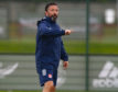 Aberdeen manager Derek McInnes during training