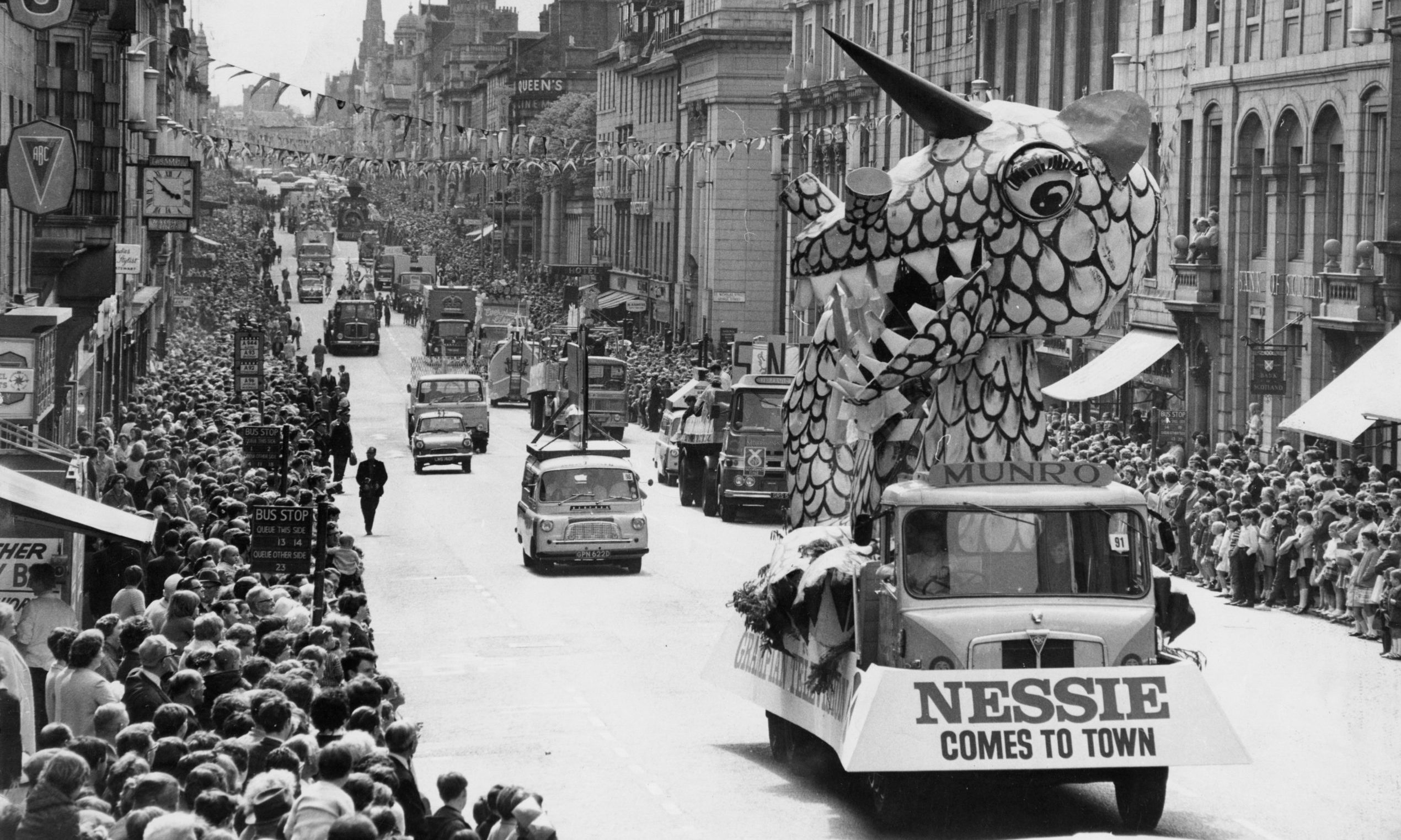Parades and crowds filled the city centre for the 1968 Aberdeen Festival, which was launched in the wake of a typhoid outbreak.