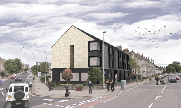 An artist's impression of VSA's planned Abergeldie House in Aberdeen.