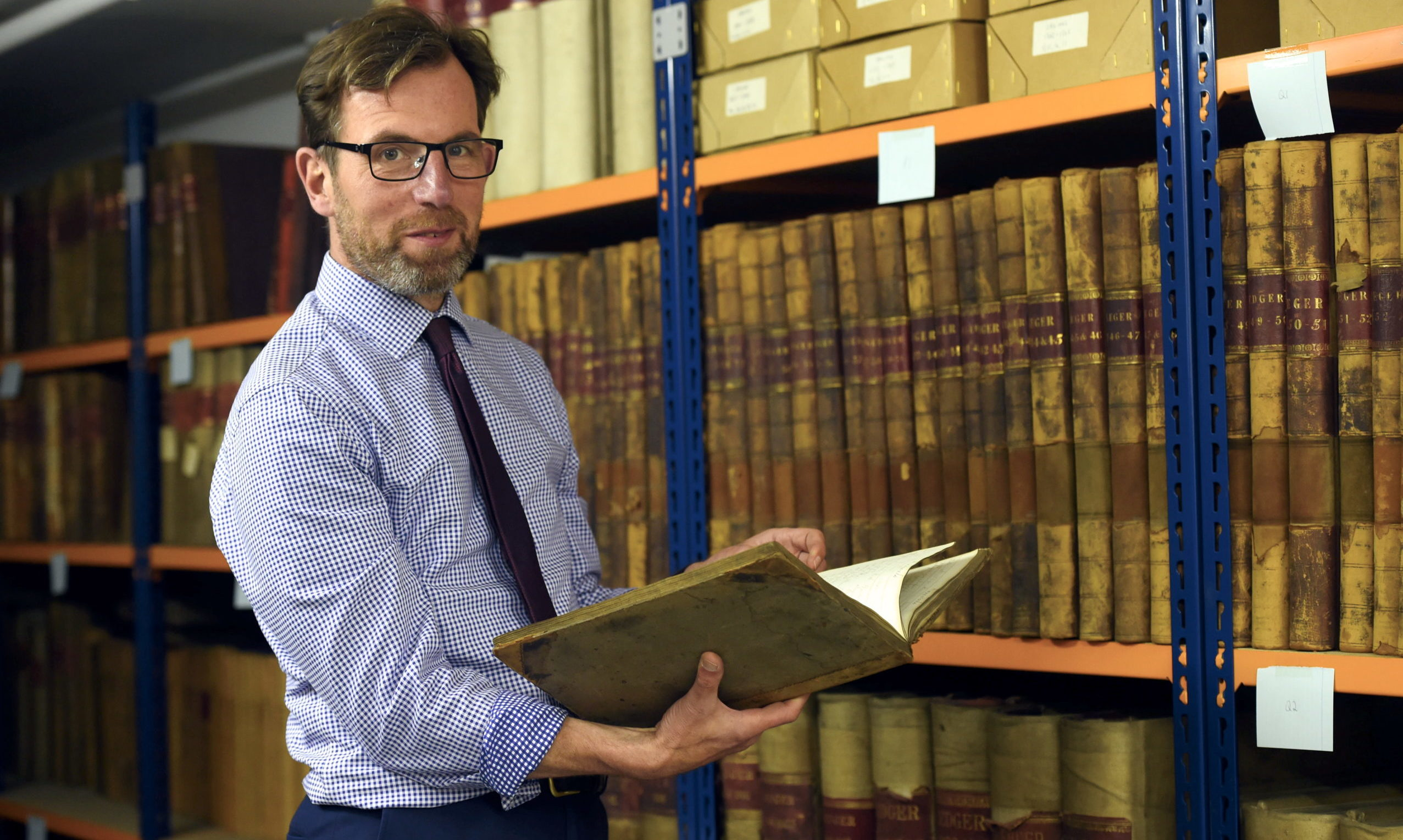 City archivist Phil Astley. Picture by Heather Fowlie