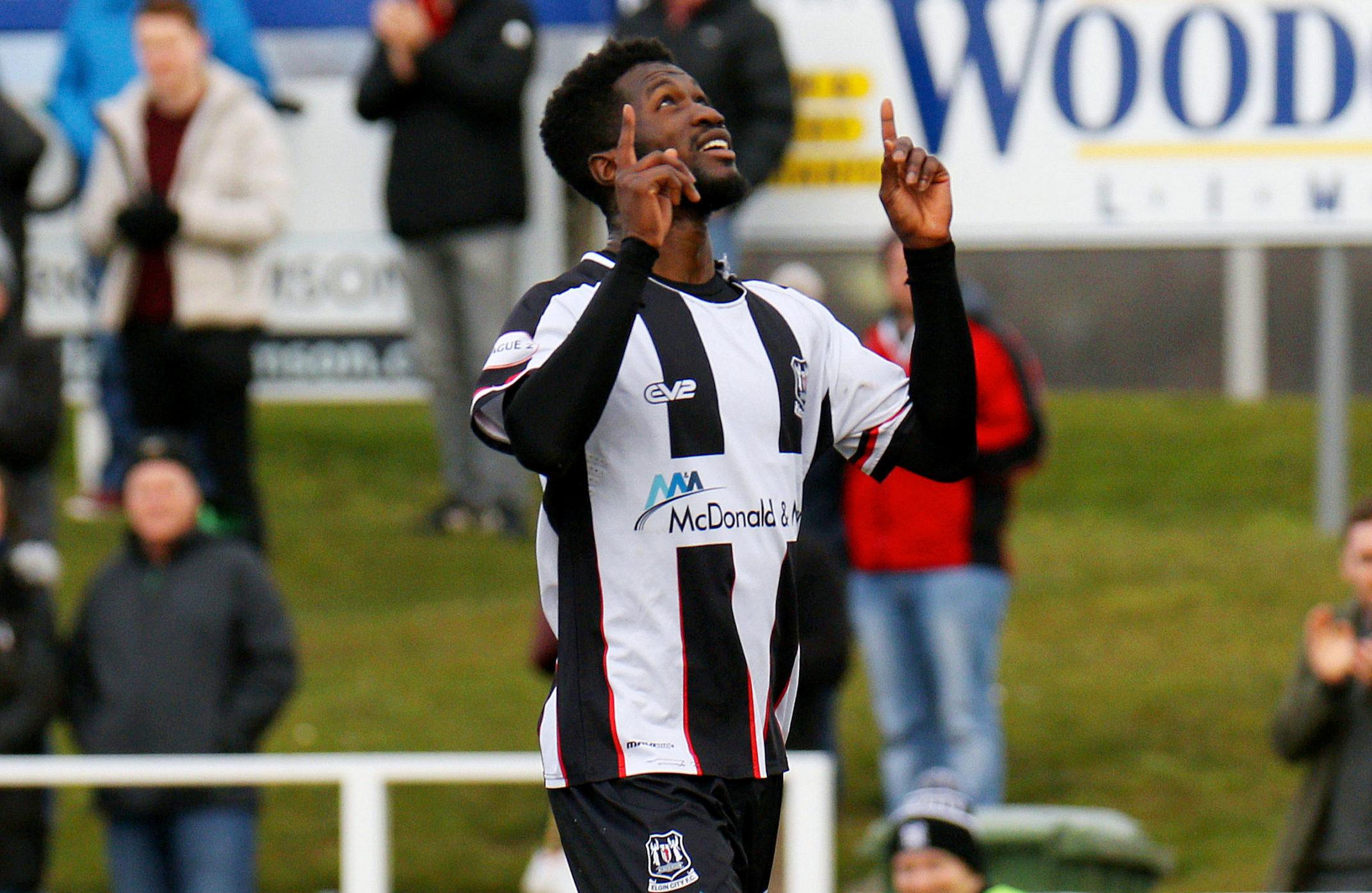 Elgin City striker Smart Osadolor