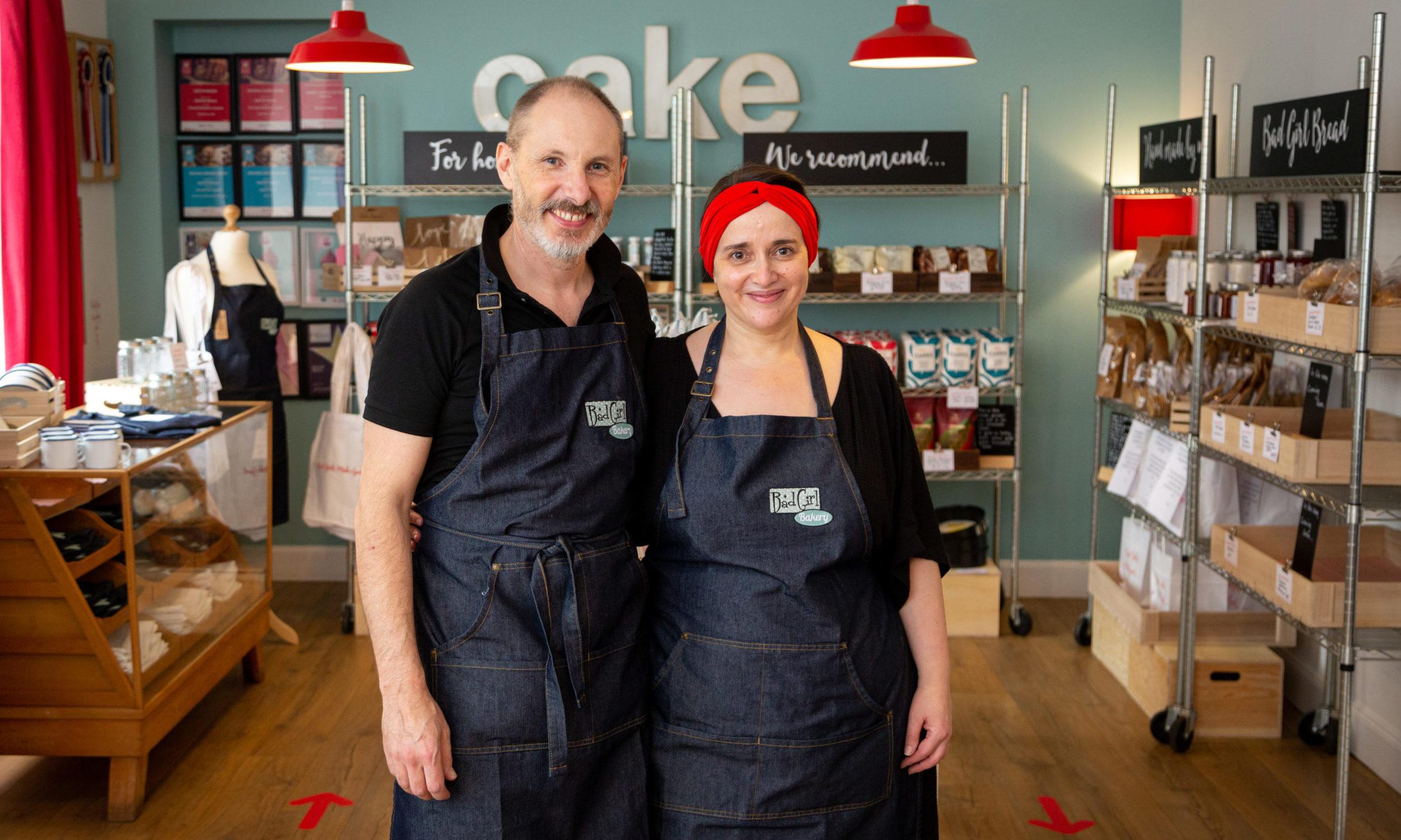 Bad Girl Bakery owners Douglas and Jeni Hardie.