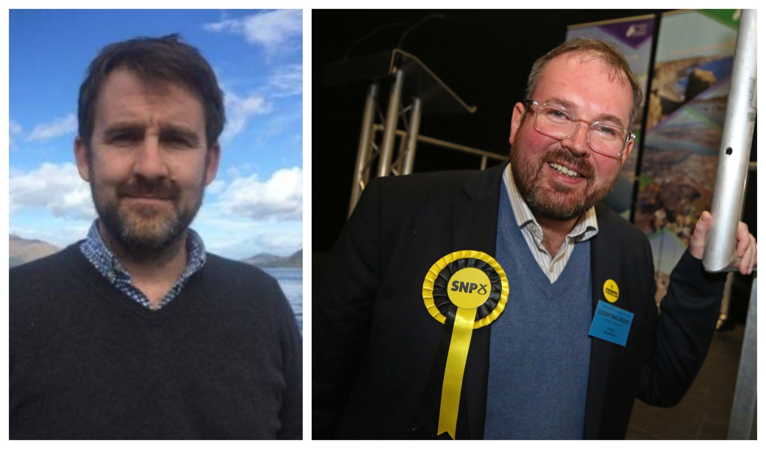 Lochaber SNP councillor Niall McLean (left) and SNP councillor Ron MacWilliam (right).