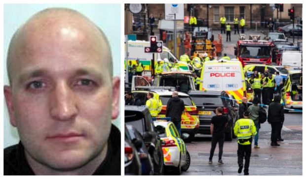 Constable David Whyte was injured during the attack in Glasgow.
