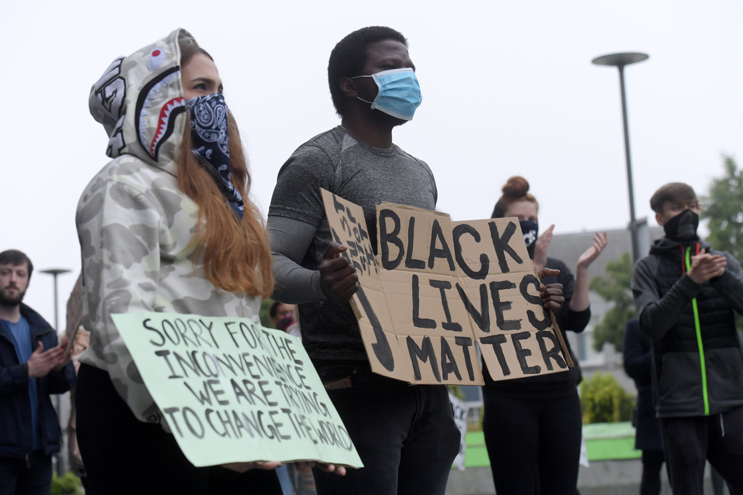 Black Lives Matter protesters.  Photo by Kath Flannery