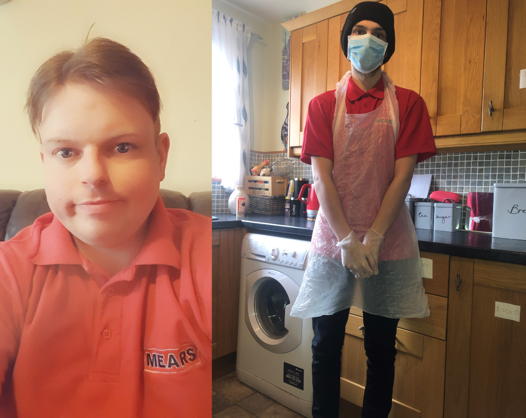 Shaun Adams (left) and Kaelin Ewen (right) completed the six week course with Mears Care.