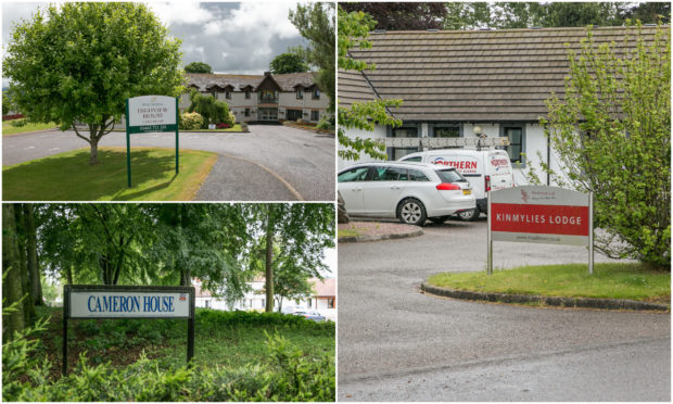 Three Inverness care homes were broken into earlier this week
