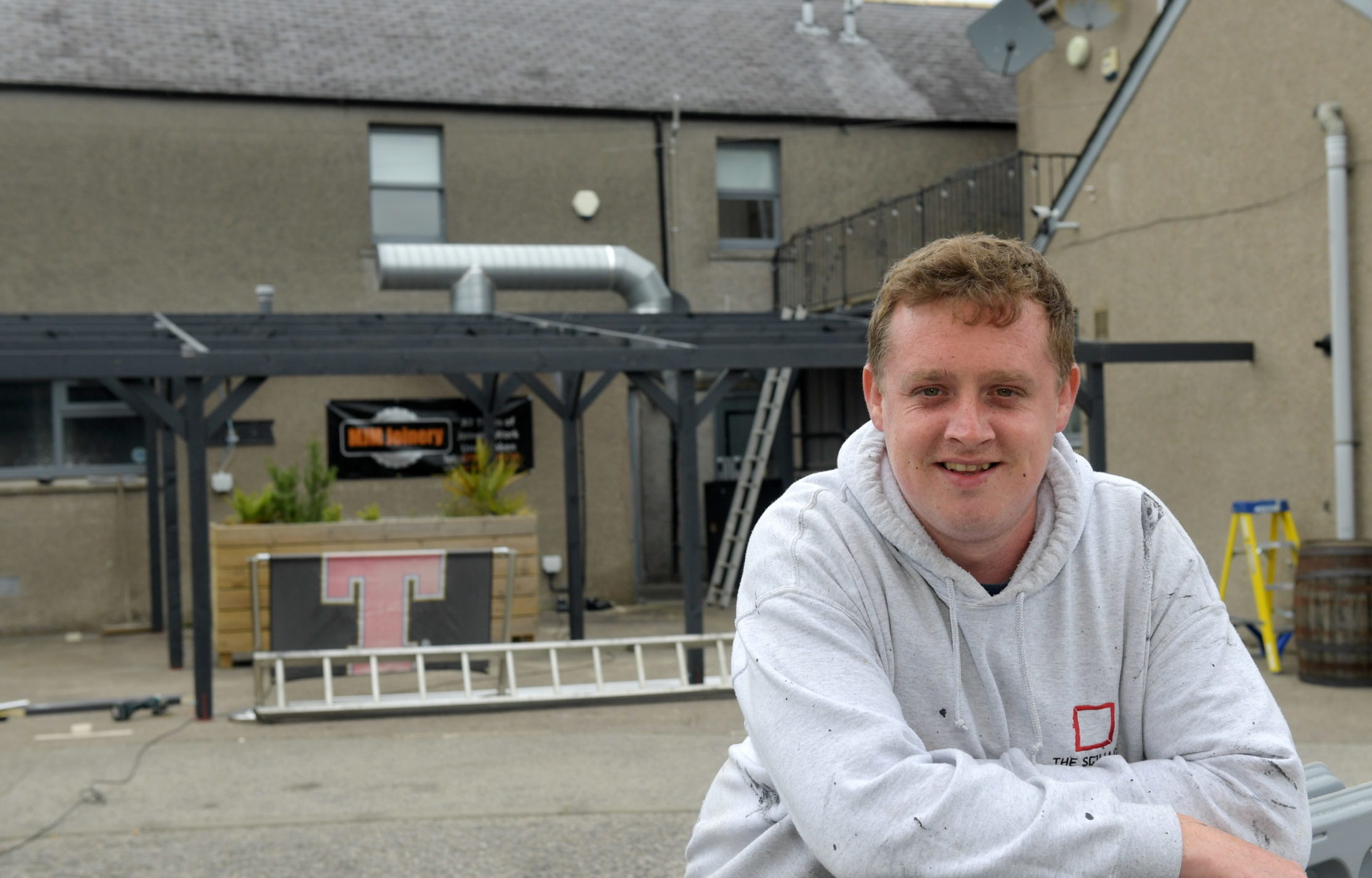 Steve MacDonald from The Square Hotel in Kintore. Picture by Kath Flannery.