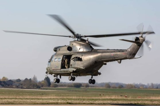 Three Puma helicopters have been based at Kinloss Barracks.