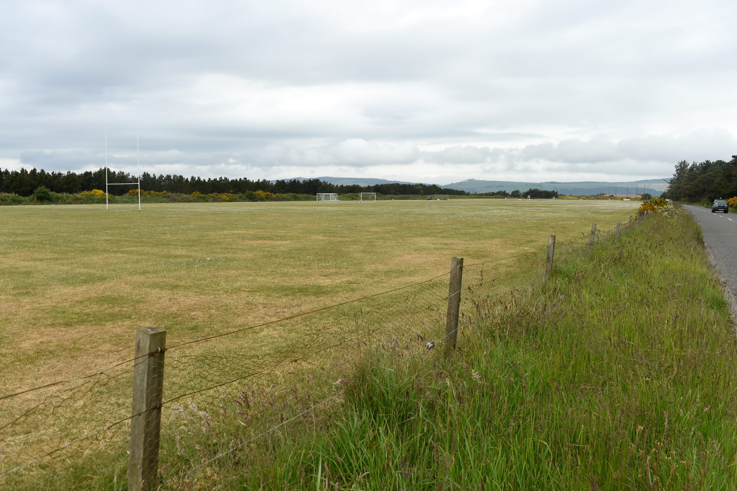 The military football pitches at Fort George near Inverness used by Caley Thistle as the club's training ground.