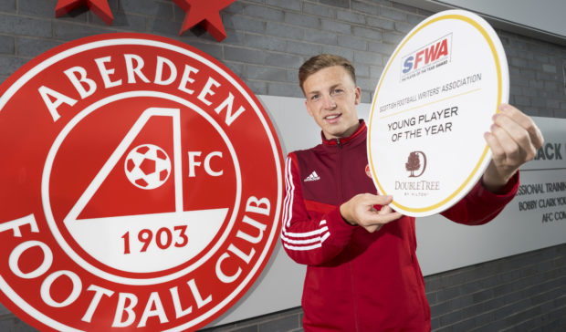 Lewis Ferguson of Aberdeen has been voted as Young  Player of the year by The Scottish Football Writers Association