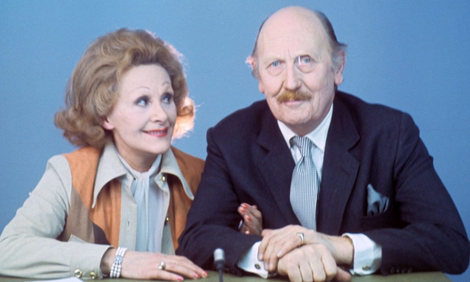 Original TV celebrity cook Fanny Cradock and husband Major Johnnie Cradock.