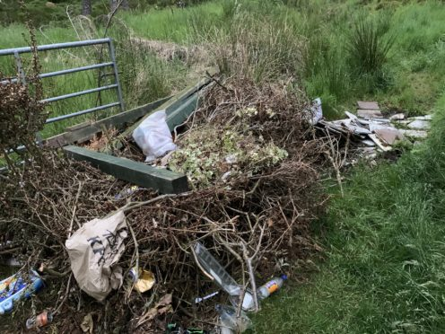 Councillor Duncan Macpherson came across the waste on the road to Farr