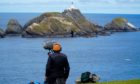 The coast at Hermaness, Shetland.