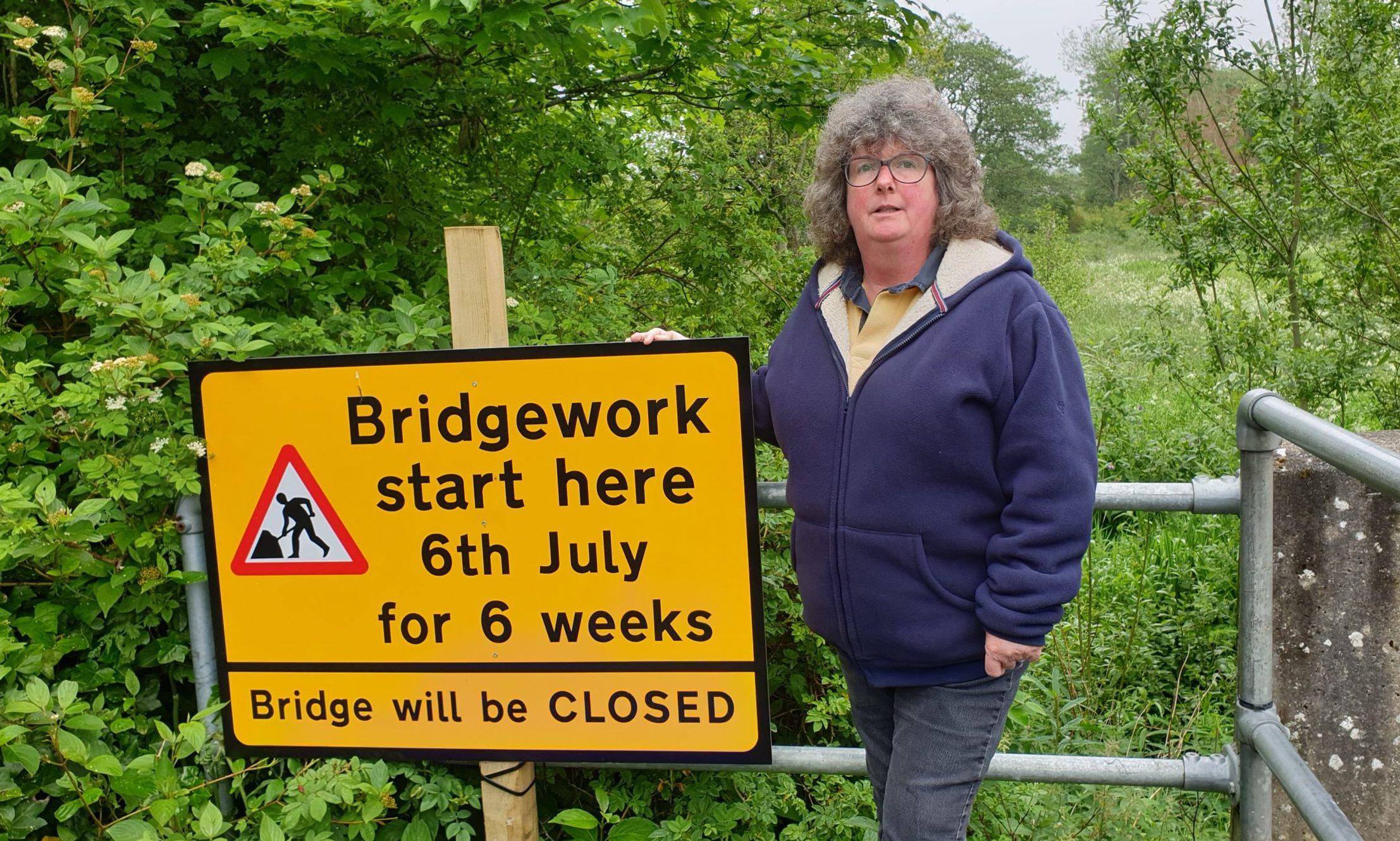 Gillian Owen at the bridge