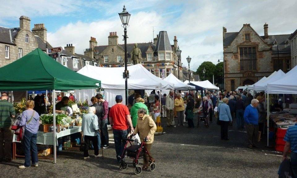 Huntly Farmers Market in full swing.