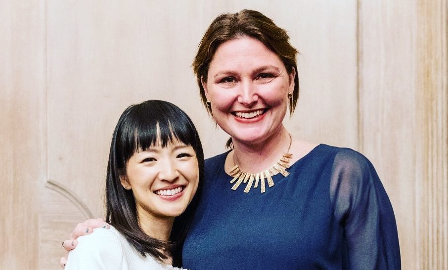 Rosie with tidying expert Marie Kondo.