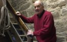 Forres Heritage Trust chairman George Alexander on the old steps at the Tolbooth in Forres.